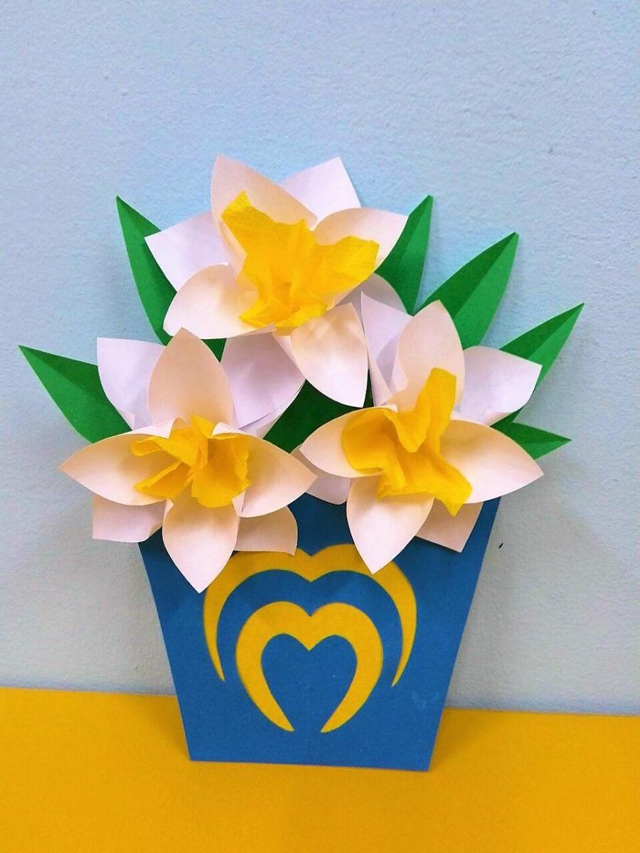 Днем, открытка к 8 марта цветы нарциссы